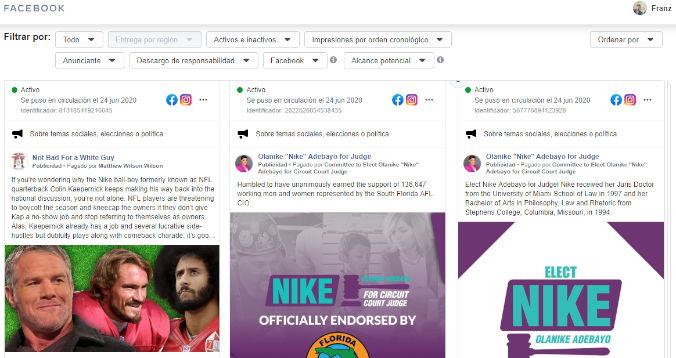 anuncios facebook ad library