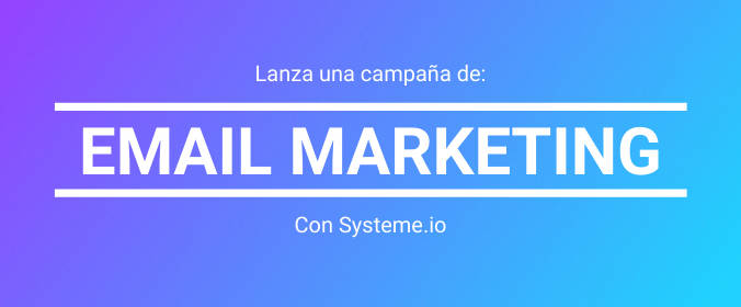 email marketing con systeme