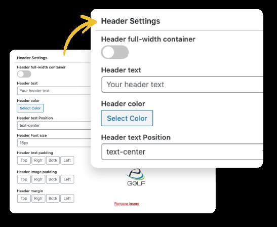 personalizar header y footer de super affiliate builder