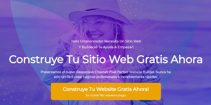 sitio web gratis con builderall 4.0
