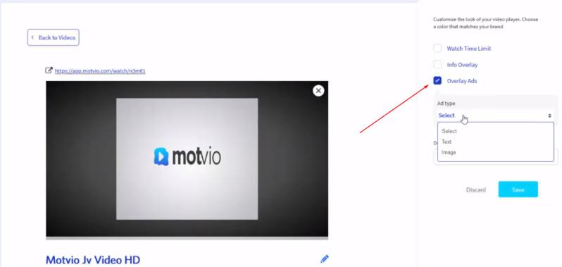 anuncios en tus videos con Motvio