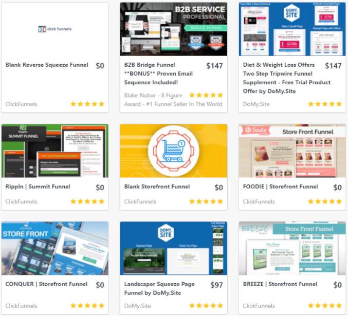 marketplace de clickfunnels