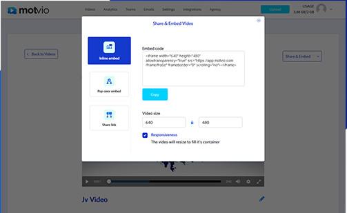 compartir videos con Motvio