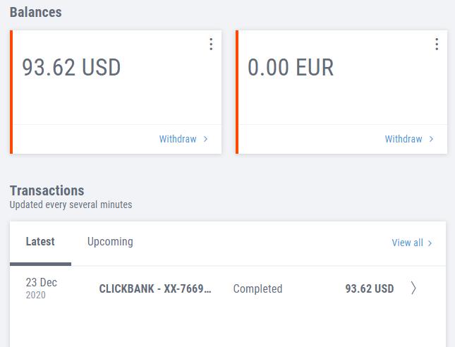 como retirar dinero de Clickbank