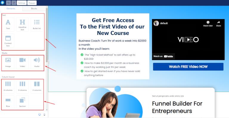 editar tu landing page