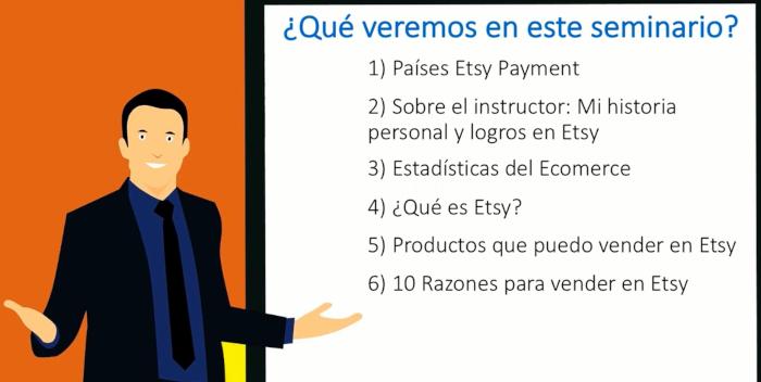 Como vender en Etsy MasterClass Gratis